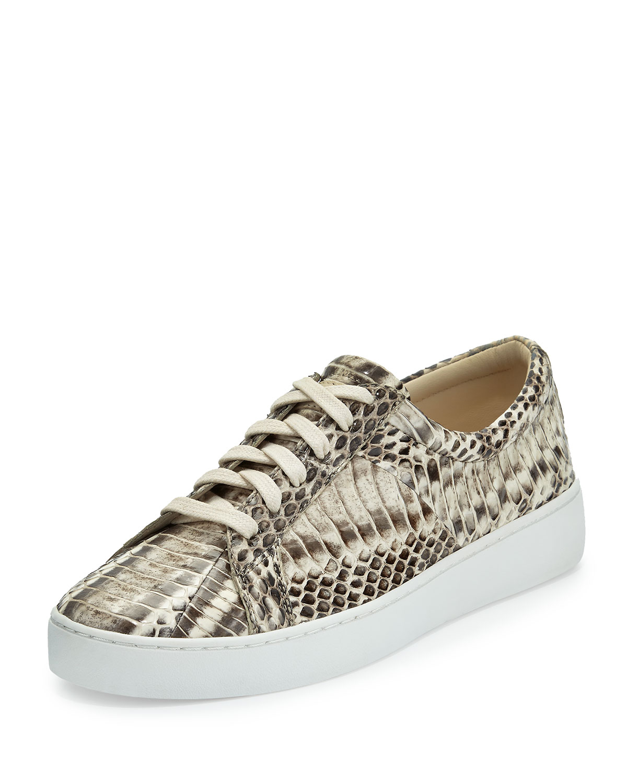 41b1aa56f21 Michael Kors Valin Runway Snake Lace-Up Sneaker | Neiman Marcus