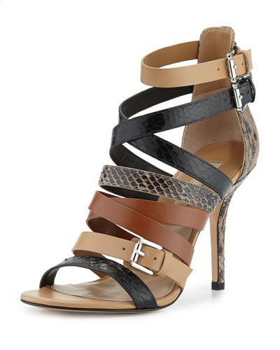 Cecilia Mixed Media Strappy Sandal