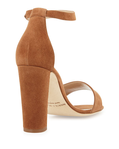 Lauratopri Suede Sandal, Camel