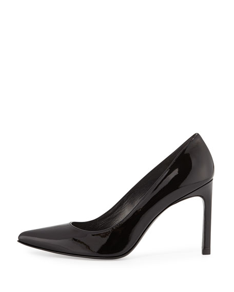 Heist Patent Leather Pump, Black