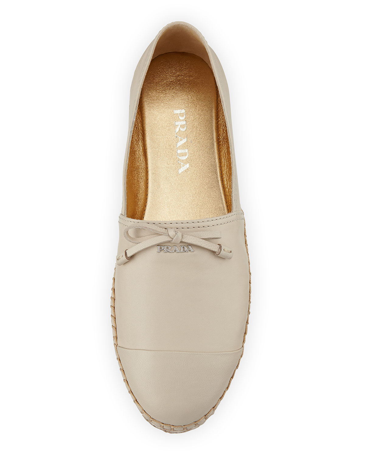 discount official Prada Leather Bow Espadrilles sale collections quality from china wholesale emuihu