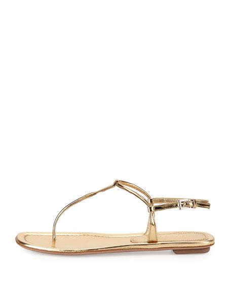 3bcd451f231 Prada Metallic Flat Thong Sandal