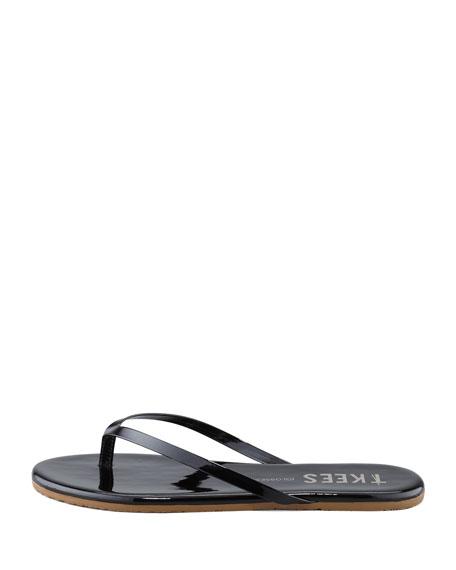 Gloss Thong Sandal, Black