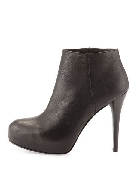 Right Platform Ankle Boot, Black