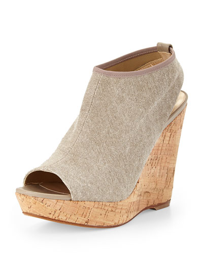 Glover Stretch Wedge Sandal, Cord