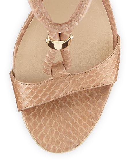Sherie Woven Snake Wedge Sandal