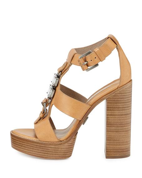 Jaden Runway Platform Sandal, Peanut