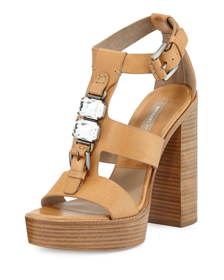 Michael Kors Collection Jaden Runway Platform Sandal, Peanut