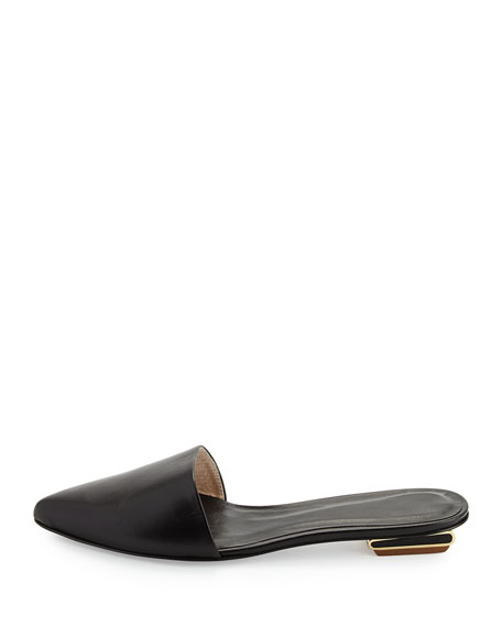 Scout Leather Point-Toe Mule, Black