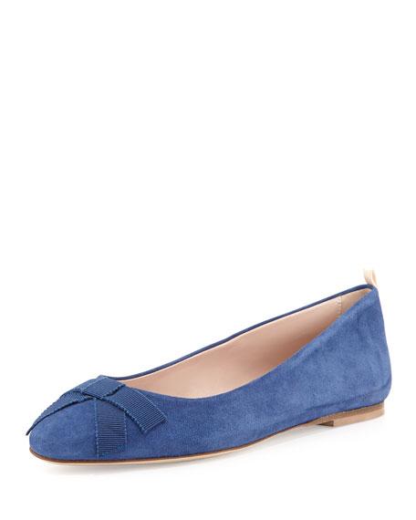 Audrey Suede Ballerina Flat, Blue