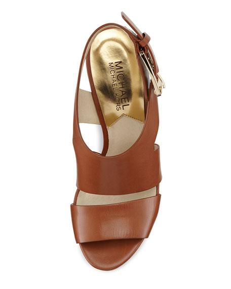Carla Platform Wedge Sandal, Luggage