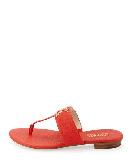 323e1a3891fb MICHAEL Michael Kors Hayley MK Leather Thong Sandal