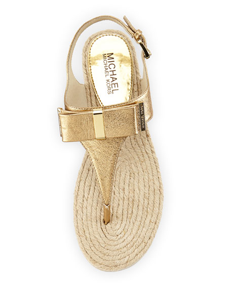 Bow Sandal Pale Gold Meg Leather Thong 5j3A4RL