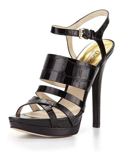 ce5dc75b1705 1 MICHAEL Michael Kors Nadja Croc-Embossed Platform Sandal