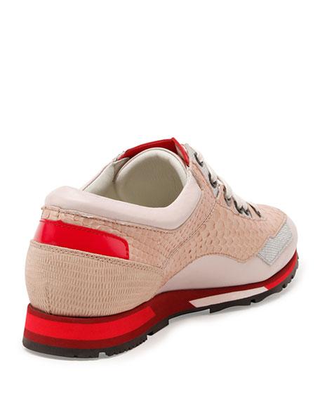 Mixed-Media Sneaker, Rose