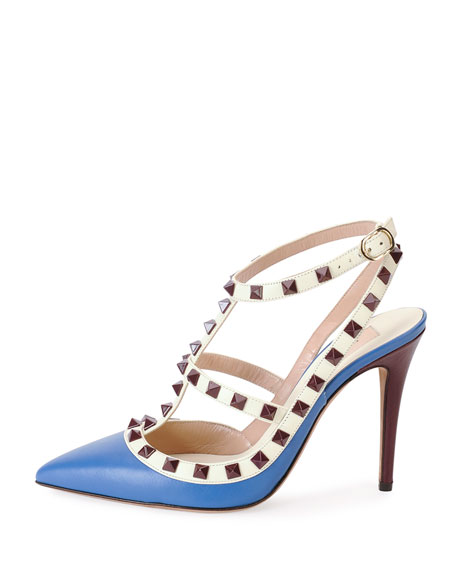 Rockstud Lacquer-Stud Slingback, Inaco
