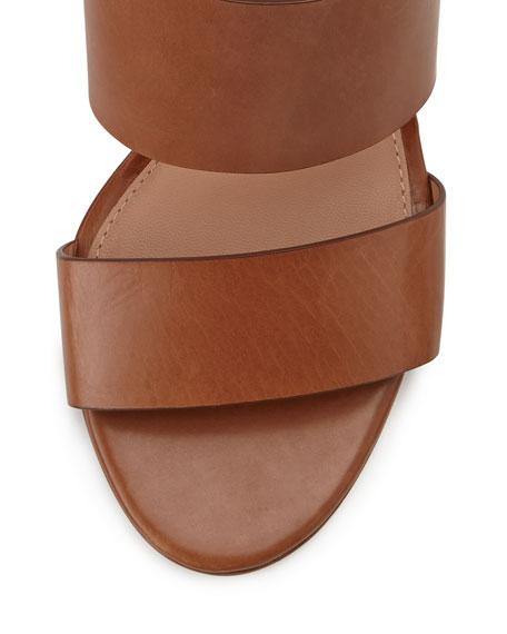 VC Signature Debbey Double-Band Leather City Sandal, Nocciola Cognac