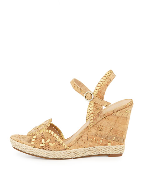Clare Rope Wedge Sandal, Cork
