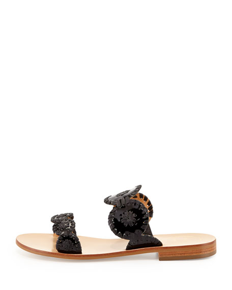 Lauren Double-Strap Sandal, Black