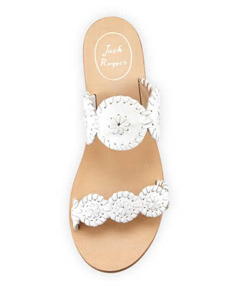 Lauren Double-Strap Sandal, White