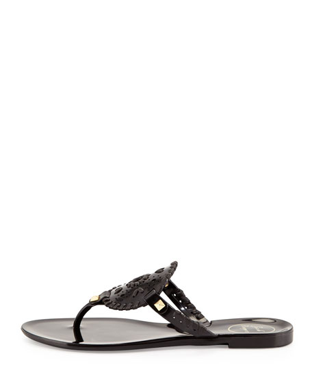 Georgica Jelly Thong Sandal, Black