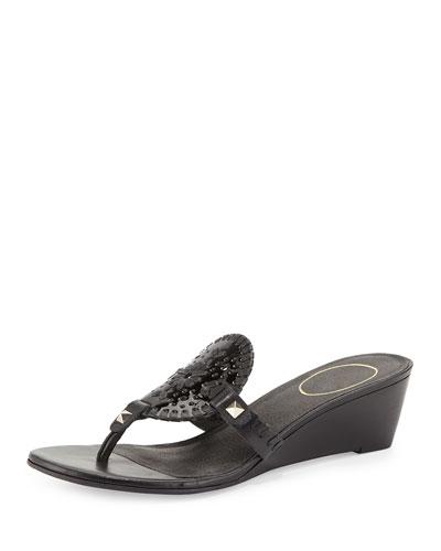 Devyn Demi-Wedge Sandal, Black