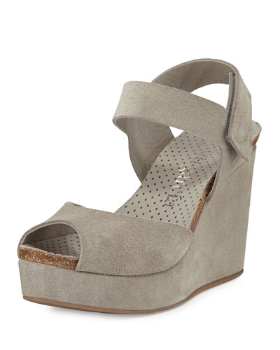 Molly Suede Wedge Sandal