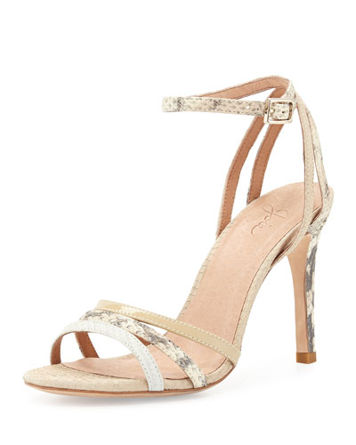 Yvette Strappy Sandal, Nude/Multi