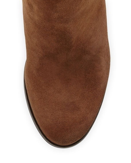 Talia Suede Over-the-Knee Boot, Cigar