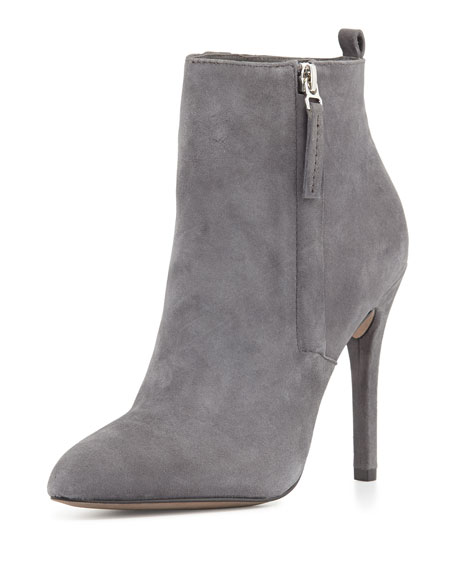 Zane Suede Ankle Boot, Gray
