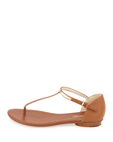 Kristen Leather Thong Sandal, Luggage