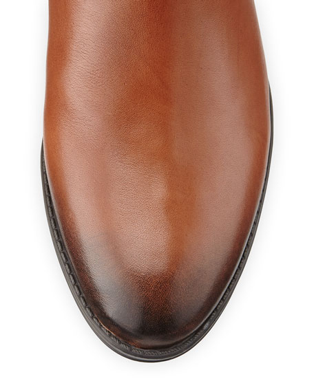 Penny Leather Riding Boot, Brown