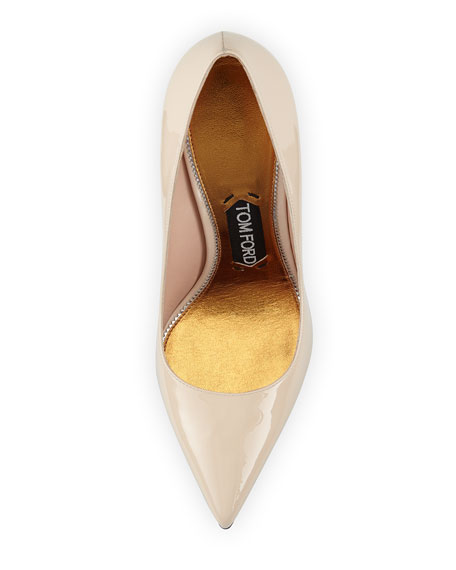 TOM FORD Patent Leather Pin-Heel Pump, Nude