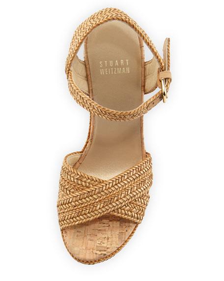 c68157dc6f0 Stuart Weitzman Minx Woven Cork Wedge Sandal