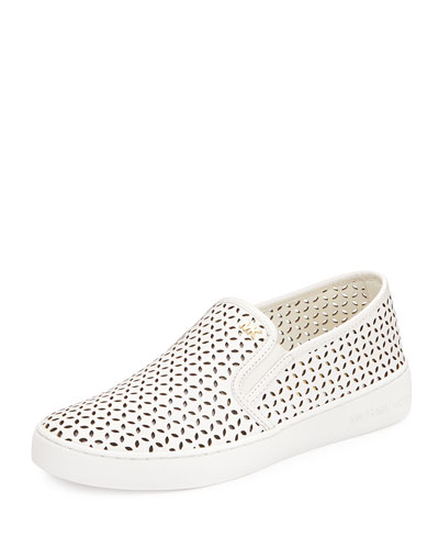 bd9333a1 MICHAEL Michael Kors Olivia Perforated Leather Sneaker, Optic White ...