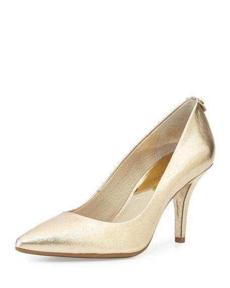 MICHAEL Michael Kors MK Flex Mid-Heel Pump, Pale Gold