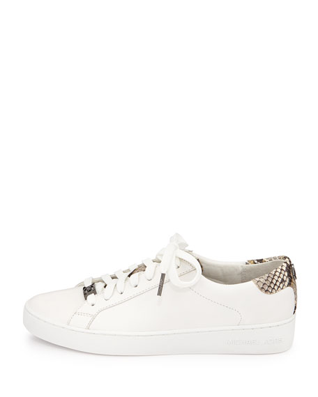 fac5f4fa4516 MICHAEL Michael Kors Irving Leather Lace-Up Sneaker