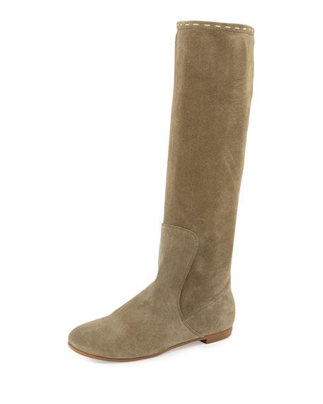 giuseppe zanotti tall suede boot