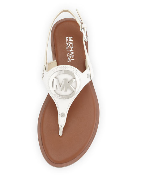 Aubrey Logo Thong Sandal, Optic White