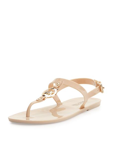 Sondra Jelly Thong Sandal, Nude