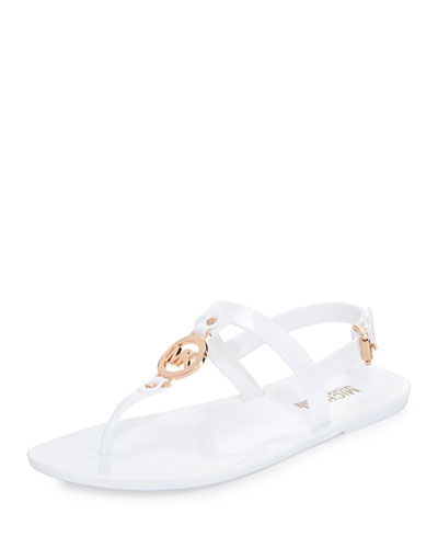 Sondra Jelly Thong Sandal, Optic White