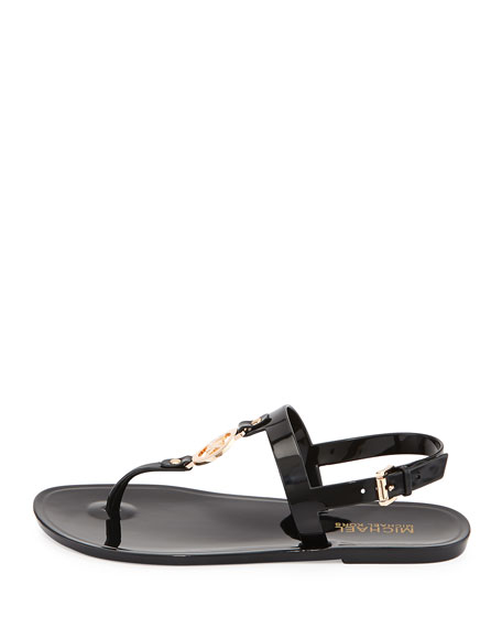 Sondra Jelly Thong Sandal, Black