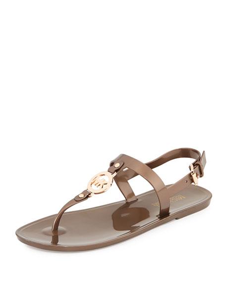 Sondra Jelly Thong Sandal, Bronze