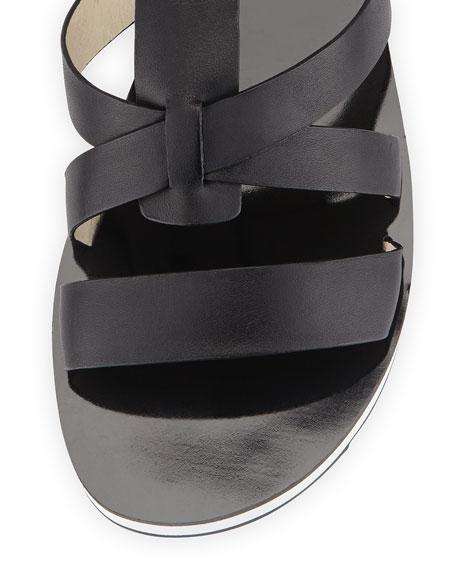 Judie Vachetta Gladiator Sandal, Black