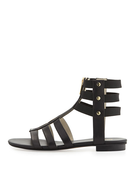 Codie Leather Gladiator Sandal, Black