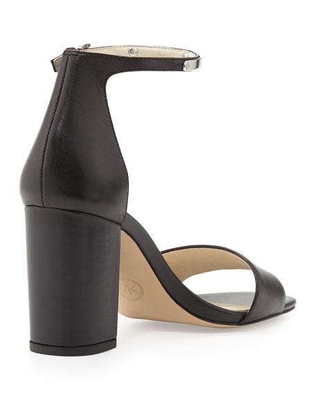 Open Toe Black Kristen Sandal High Heel D92IEWH