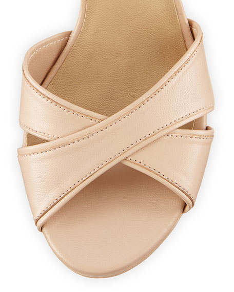 Nexus Platform Leather Sandal, Adobe