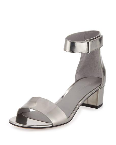 Vince Rita Specchio Block Heel Sandal Pewter