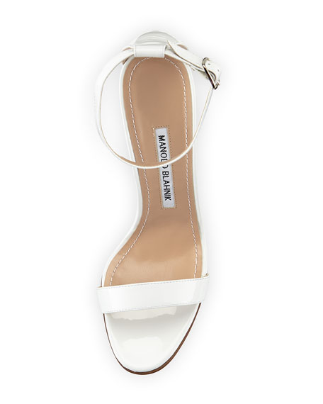Chaos Patent Leather Sandal, White