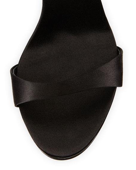 Crystal-Embellished-Strap Sandal, Black